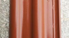 铁红斜角光面瓦片