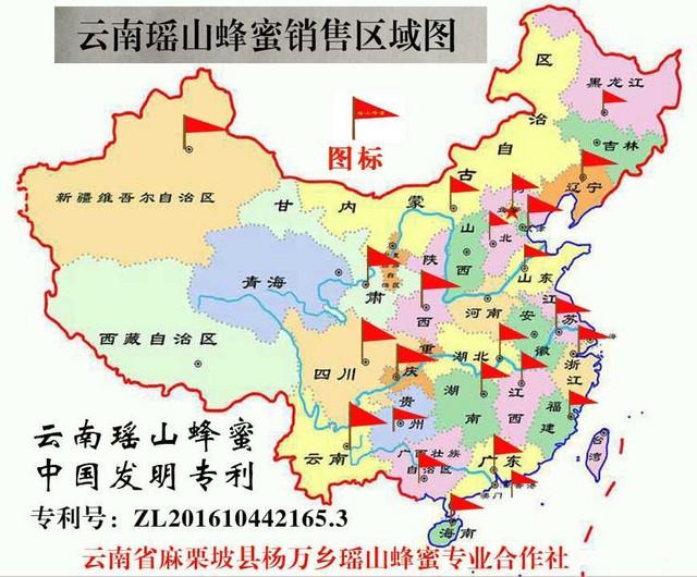 云南瑶山蜂蜜销售区域图.jpg